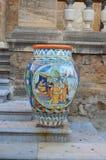 Ceramika w Sciacca mie?cie, Sicily zdjęcia stock