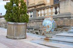 Ceramika w Sciacca mie?cie, Sicily obrazy royalty free