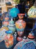 Ceramika wazy na rynku zdjęcie royalty free