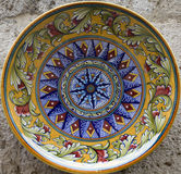 Ceramisc plate from tuscany Royalty Free Stock Photo
