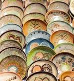 Ceramisch aardewerk in Horezu, Roemenië Royalty-vrije Stock Afbeeldingen