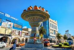 Ceramisch beeldhouwwerk in het district van het stadscentrum van Nabeul Tunesië, Nr Royalty-vrije Stock Afbeelding