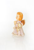 Ceramisch engelenmeisje Stock Afbeelding