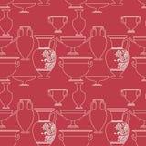 Ceramisch Etnisch nationaal Grieks stijl naadloos patroon Stock Foto