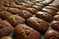 Ceramisch gezicht, cultureel symbool van Vietnamese mensen Stock Afbeelding
