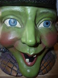 Ceramisch grren heksen grote ogen Royalty-vrije Stock Fotografie