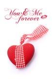 Ceramisch hart met boog royalty-vrije stock foto