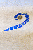 Ceramisch mozaïek door Gaudi Royalty-vrije Stock Foto