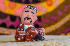 Ceramisch Oezbekistaans beeldje royalty-vrije stock foto's