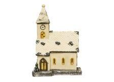 Ceramisch stuk speelgoed geïsoleerd huis Royalty-vrije Stock Afbeeldingen