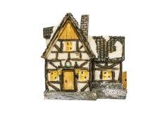Ceramisch stuk speelgoed geïsoleerd huis Stock Foto's
