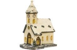 Ceramisch stuk speelgoed geïsoleerd huis Stock Fotografie