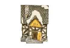 Ceramisch stuk speelgoed geïsoleerd huis Royalty-vrije Stock Foto's
