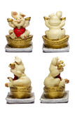 Ceramisch Varken Chinees Lucky Money Stock Foto