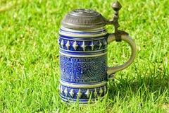 Ceramische biermok royalty-vrije stock afbeeldingen