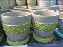 Ceramische bloempotten Royalty-vrije Stock Foto