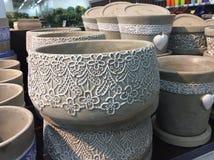 Ceramische bloempotten Royalty-vrije Stock Afbeeldingen