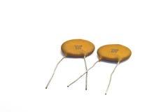 Ceramische Condensatoren Royalty-vrije Stock Foto's