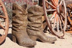 Ceramische cowboylaarzen Royalty-vrije Stock Foto