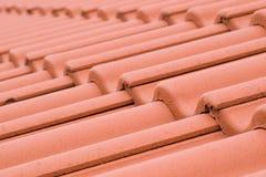 Ceramische dakwerktegels stock afbeelding
