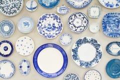 Ceramische decoratieve muur Stock Foto's