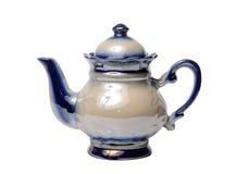 Ceramische die theepot op witte achtergrond wordt geïsoleerd Dit heeft het knippen weg stock foto's
