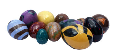 Ceramische Eieren Stock Afbeeldingen