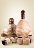 Ceramische fles Stock Foto's