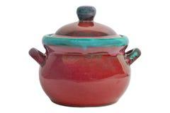Ceramische geïsoleerder pot Stock Afbeelding