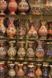 Ceramische geschilderde vazen en kruiken Royalty-vrije Stock Foto
