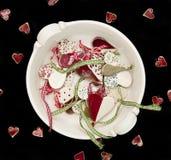 Ceramische harten die op zwarte worden geïsoleerd?. Royalty-vrije Stock Afbeeldingen