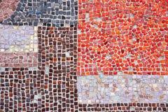 Ceramische het mozaïekclose-up van de muurdecoratie Stock Fotografie