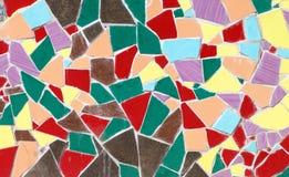 Ceramische het mozaïeksamenstelling van glas kleurrijke tegels Royalty-vrije Stock Afbeeldingen