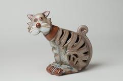 Ceramische Kat Royalty-vrije Stock Afbeelding