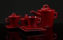 Ceramische koffieinzameling Stock Foto's