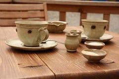 Ceramische koffiereeks Royalty-vrije Stock Afbeeldingen