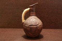 Ceramische kruik bruine kleur Stock Afbeelding