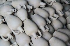 Ceramische kruiken, Cappadocia, Turkije Stock Afbeelding