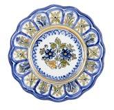 Ceramische Lobed Plaat Royalty-vrije Stock Fotografie