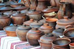 Ceramische met de hand gemaakte ambacht Aardewerkambacht stock afbeelding