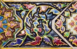 Ceramische muurachtergrond Royalty-vrije Stock Afbeeldingen