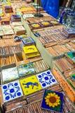 Ceramische onderleggers voor glazen voor verkoop Stock Foto