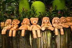 Ceramische poppen Stock Afbeeldingen