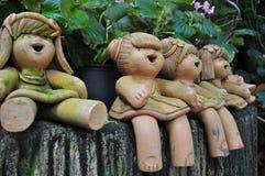 Ceramische poppen Royalty-vrije Stock Afbeeldingen