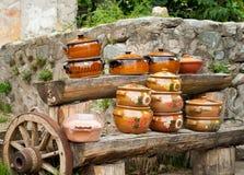 Ceramische Potten Stock Afbeelding