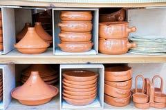 Ceramische potten Royalty-vrije Stock Foto's