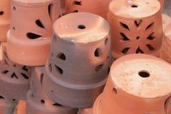 Ceramische potten Stock Foto