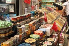 Ceramische producten van het Kruidbazaar Mısır à ‡ van Turkije arşısı stock fotografie