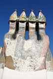 Ceramische schoorsteen van Casa Batlo Royalty-vrije Stock Afbeelding