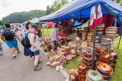 Ceramische schotels Royalty-vrije Stock Foto's
